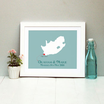 Wedding In South Africa Personalised Print