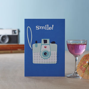 'Smile' Blank Greetings Card
