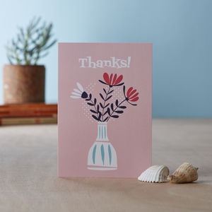 'Thanks' Blank Greetings Card