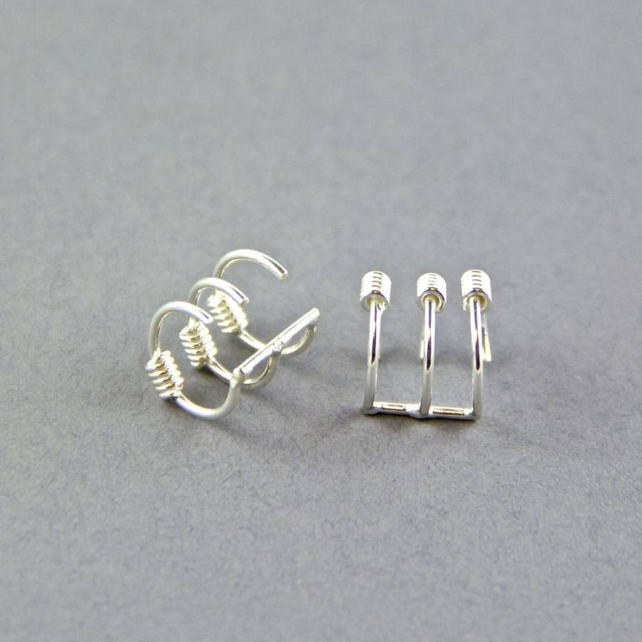 sterling silver ear cuffs by gama. Black Bedroom Furniture Sets. Home Design Ideas