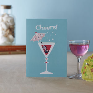 'Cheers' Blank Greetings Card - all purpose cards, postcards & notelets