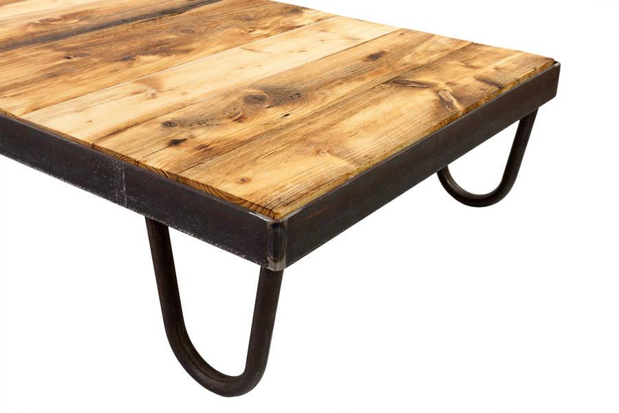 Vintage Industrial Cart Coffee Table By Swinging Monkey Furniture Design