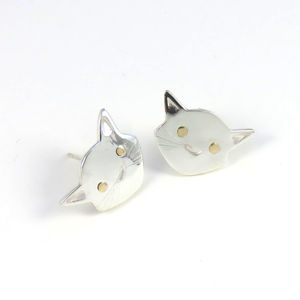 Cat Stud Earrings - earrings