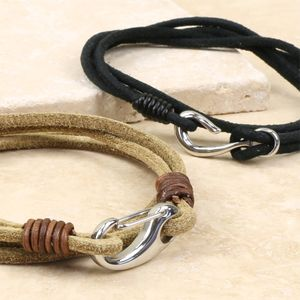 Men's Layered Wrap Bracelet - men's
