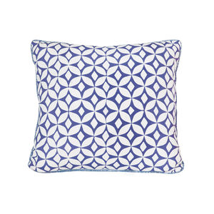 Quadria, Ink Blue Cushion