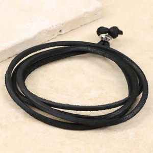 Men's Leather Layered Wrap Bracelet
