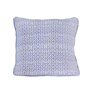 Portia, Ink Blue Cushion - patterned cushions