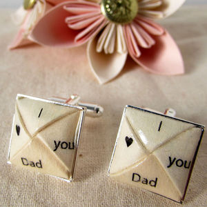 I Heart You Dad Cufflinks