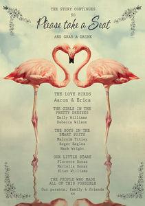 Flamingo Wedding Party Poster