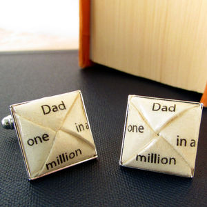Dad One In A Million Cufflinks - personalised jewellery