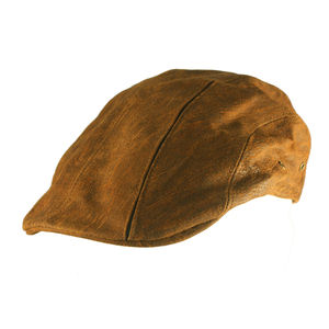 'Roma' Leather Cap