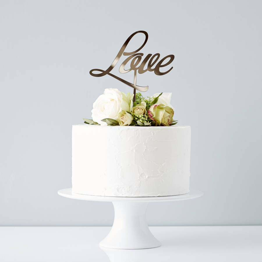 Elegant Love Wedding Cake Topper