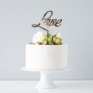 Elegant 'Love' Wedding Cake Topper - cakes & treats