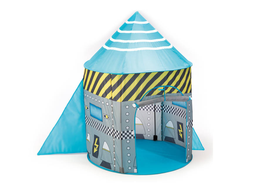 Rocket Ship Pop Up Play Tent  sc 1 st  Notonthehighstreet.com & rocket ship pop up play tent by the little blue owl ...