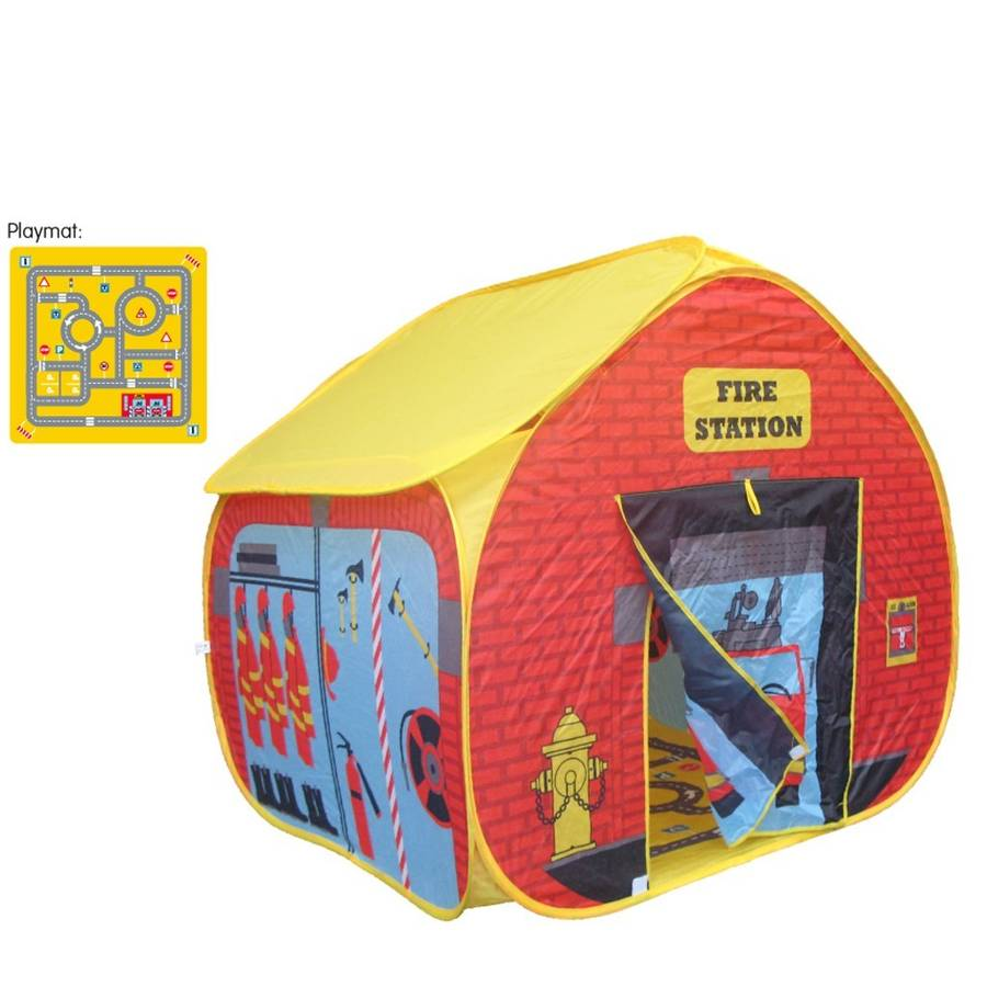 Pop Up Fire Station Play Tent  sc 1 st  Notonthehighstreet.com & pop up fire station play tent by the little blue owl ...
