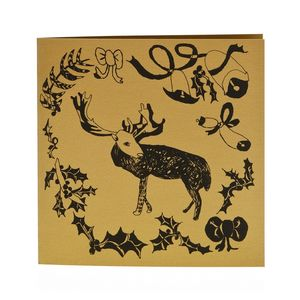 Dasher Reindeer Card - cards & wrap