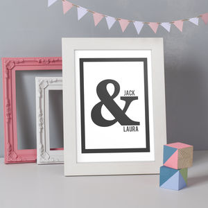 Personalised Ampersand Couples Print - personalised