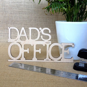 Dad's Office Wooden Sign - gifts under £15
