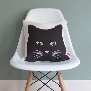Black Cat Feature Cushion - pet-lover