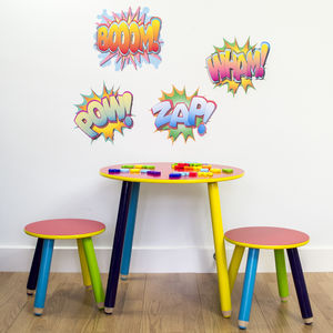 Comic Book Words Wall Sticker Set - children's room