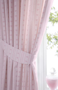 Pink Heart Curtains - curtains & blinds