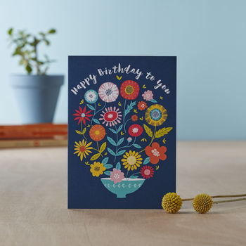 'Flower Shop' Birthday Card