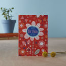 'Flutterby' Birthday Card