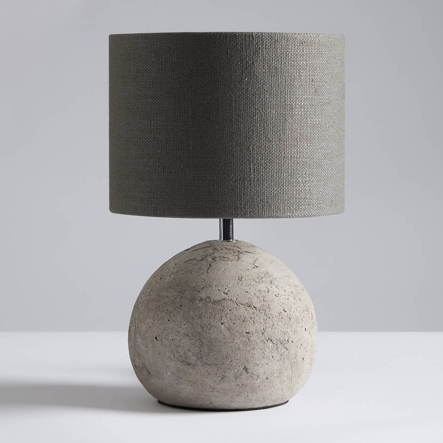 Louella Concrete Table Lamp And Shade By Horsfall Amp Wright