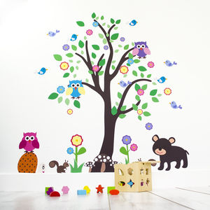 Kids Bedroom Woodland Tree Wall Sticker - office & study