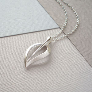 Contemparary Silver Leaf Necklace