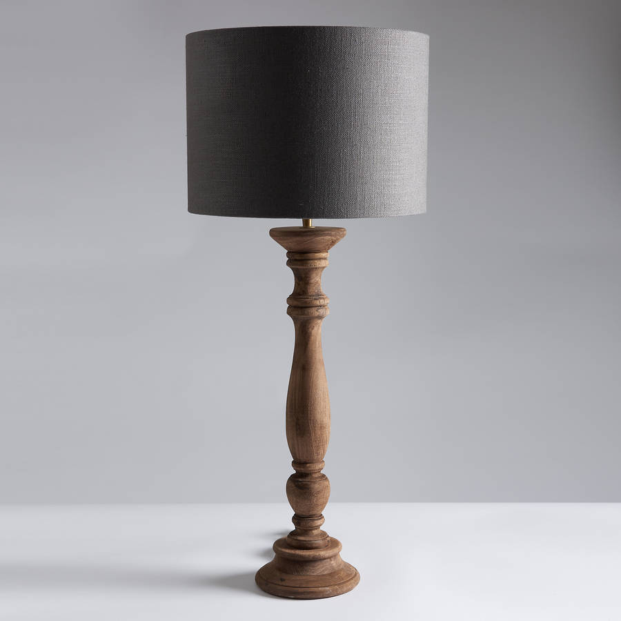 faroe wooden table lamp and shade by horsfall wright. Black Bedroom Furniture Sets. Home Design Ideas