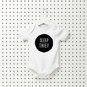 Sleep Thief Baby Grow - the monochrome edit