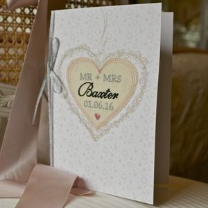 Large Embroidered Wedding Card