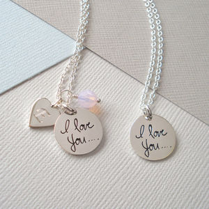 'I Love You' Necklace In Sterling Silver