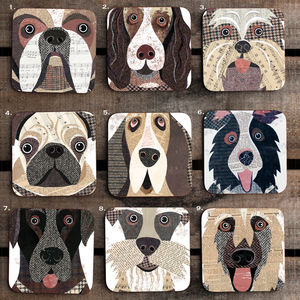 Pawtrait 'Close Up' Dog Coaster - shop by personality