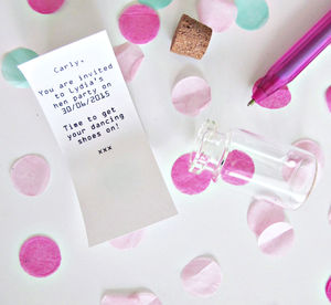 Hen Party Invitation Letter In A Bottle