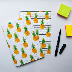 Pineapple Print Notebook