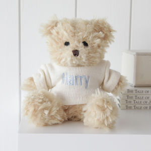 Personalised Waffle Teddy Bear - soft toys & dolls