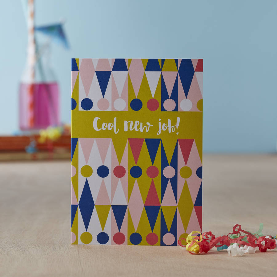 Cool New Job Greetings Card By Jane Farnham Notonthehighstreet