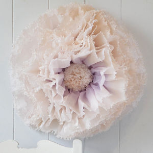 Giant Lilac And Champagne Paper Flower Vintage Rose