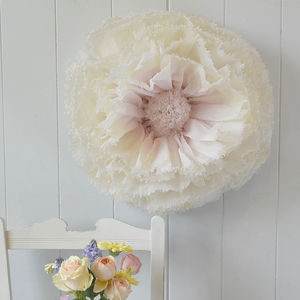 Giant Hand Dyed Blush And Ivory Ombré Paper Flower