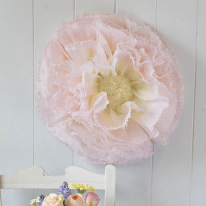 Giant Blush And Lemon Ombre Paper Flower Wild Rose