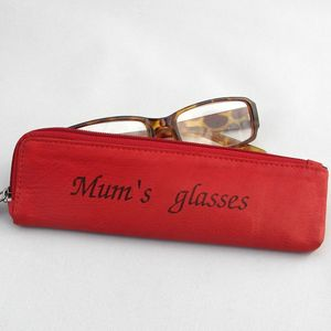 Personalised Leather Glasses / Pencil / Make Up Case - glasses cases