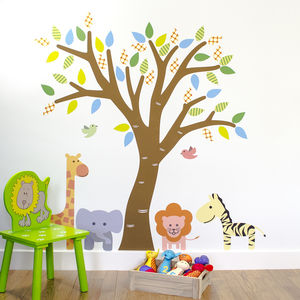 Jungle Tree Fabric Wall Sticker - wall stickers