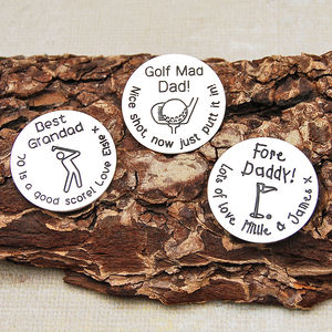 Sterling Silver Personalised Golf Ball Marker - interests & hobbies