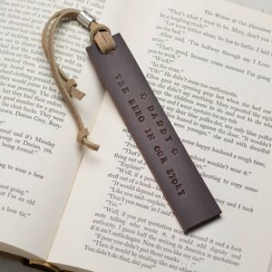 Personalised Leather And Silver Bookmark