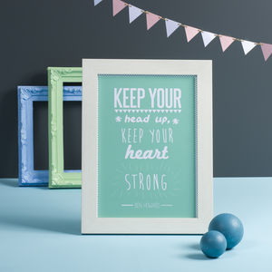 'Keep Your Head Up' Ben Howard Print