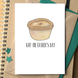 'Hap Pie Father's Day' Card - last-minute cards & wrap
