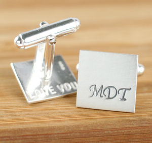 Personalised Silver Monogram Cufflinks - men's jewellery