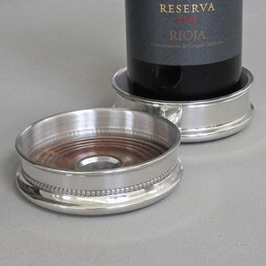 Pewter Wine Coaster - placemats & coasters